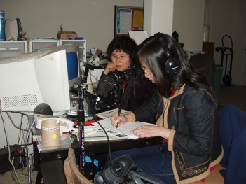 Working in the producer's office, Yushi recorded her story